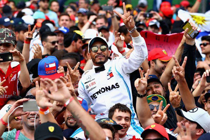 Brasilísku aðdáendurnir elska Formúlu 1.