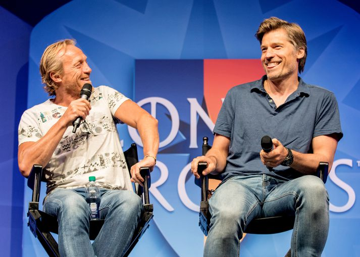 Nikolaj Coster-Waldau (hægri) lék hlutverk Jaime Lannister í þáttunum vinsælu.