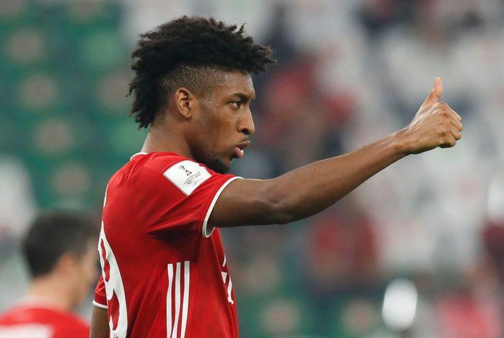 Kingsley Coman vill vera hjá Bayern München enn um sinn.