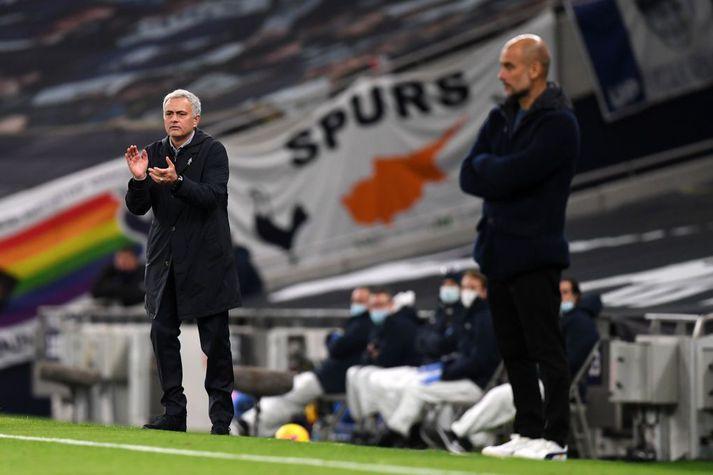 Mourinho hafði betur gegn Guardiola í þetta skiptið.