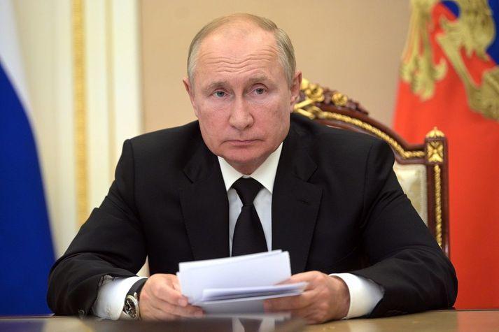 Vladimír Pútín, forseti Rússlands.