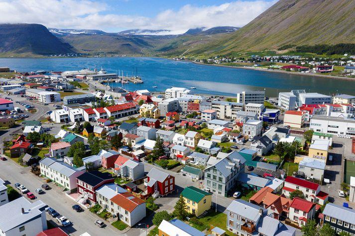 Miðbær Ísafjarðar.