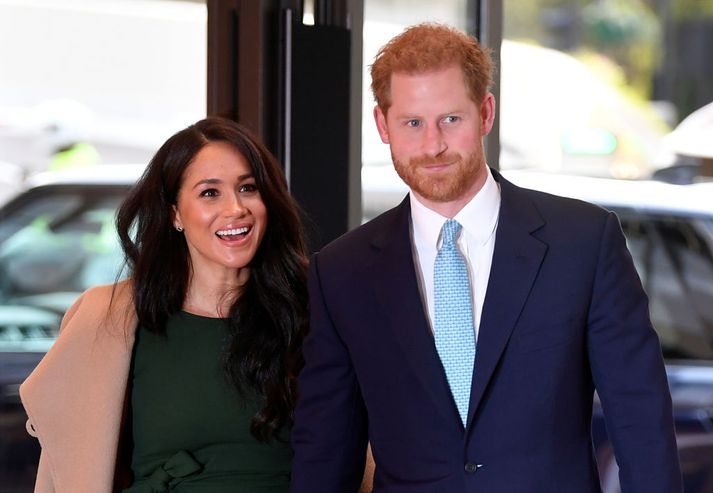 Meghan Markle og eiginmaður hennar, Harry Bretaprins. Markle var leikkona í Hollywood áður en hún giftist Harry.