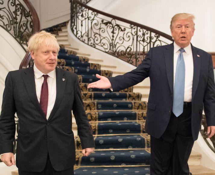 Boris Johnsson og Donald Trump þykja um margt líkir.