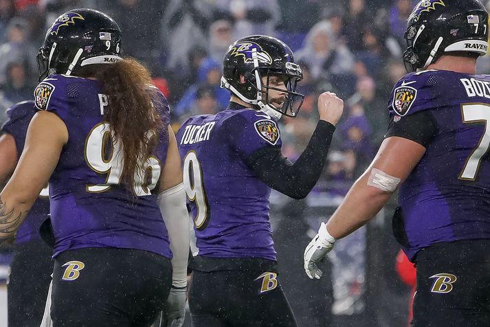 Justin Tucker er sparkari Baltimore Ravens