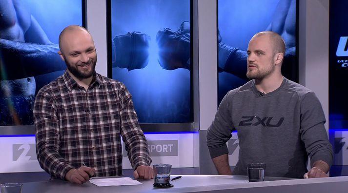 Gunnar og Pétur Marinó.