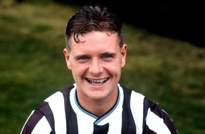 Paul Gascoigne á svipuðum tíma og Manchester United var að reyna að kaupa hann.