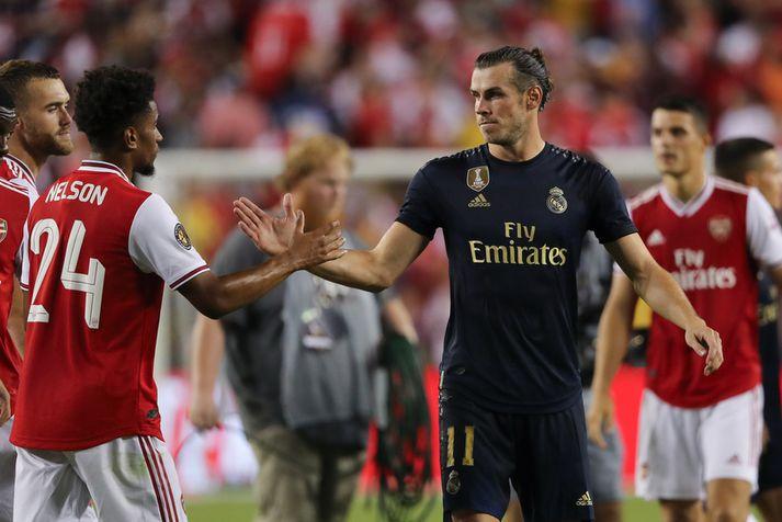 Gareth Bale eftir leikinn í nótt.