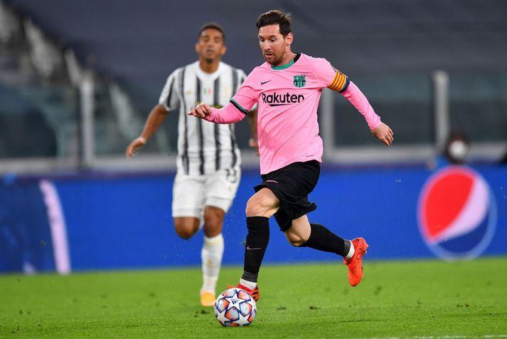 Lionel Messi í leik gegn Juventus í Meistaradeildinni á þessari leiktíð. Börsungar eru með fullt hús stiga að loknum þremur leikjum.