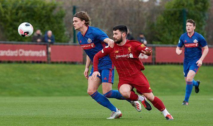Wouter Verstraaten í leik gegn U23-ára liði Liverpool í febrúar.