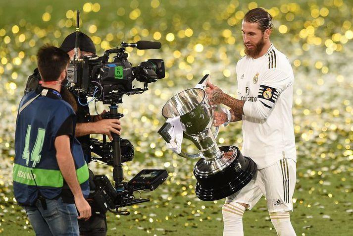 Sergio Ramos mun ekki lyfta fleiri titlum í treyju Real Madrid.