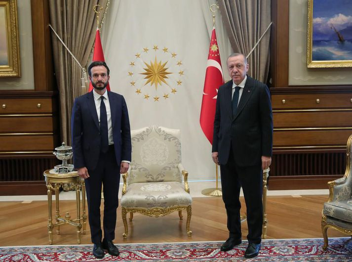 Róbert Spanó og Recep Tayyip Erdogan, forseti Tyrklands.