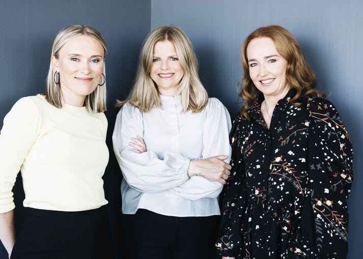 Jenný Ruth Hrafnsdóttir, Helga Valfells og Hekla Arnardóttir, meðeigendur hjá Crowberry Capital.