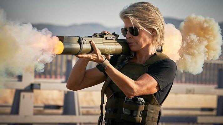 Linda Hamilton sem Sarah Connor í nýjustu Terminator-myndinni.