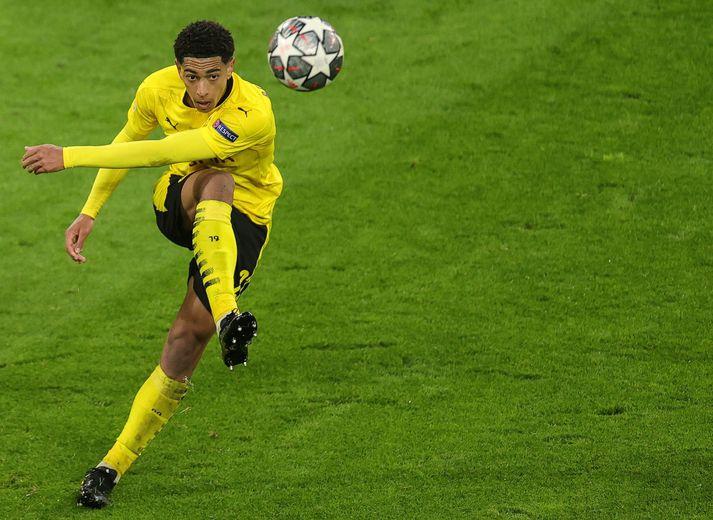 Jude Bellingham skoraði mark Dortmund í 2-1 tapi gegn Manchester City í gær.