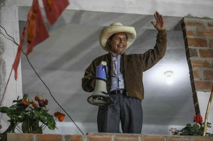 Pedro Castillo telur sig næsta forseta Perú.