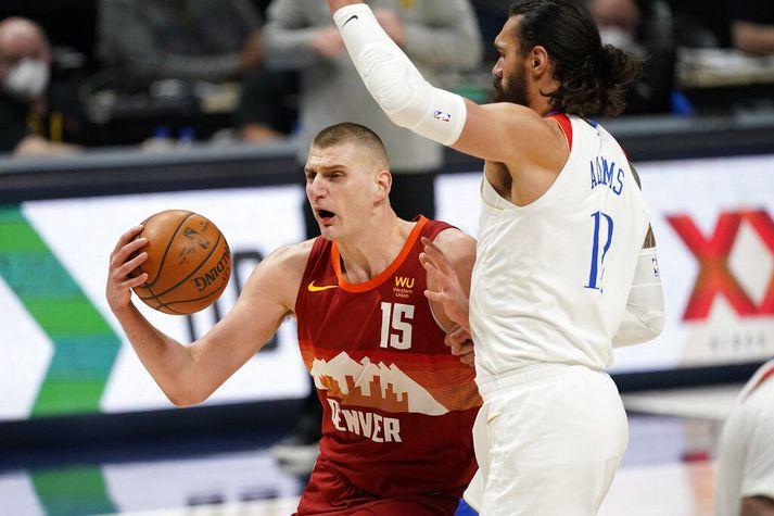 Nikola Jokic tryggði Denver Nuggets sigur í nótt.