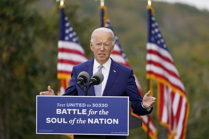 Joe Biden lofaði miklum fyrirtækjaskattahækkunum í kosningabaráttu sinni.