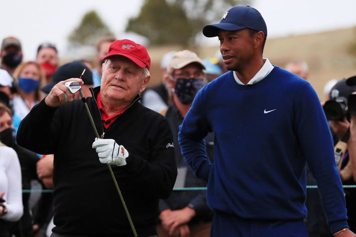 Jack Nicklaus og Tiger Woods hafa unnið flest risamót í golfsögunni.