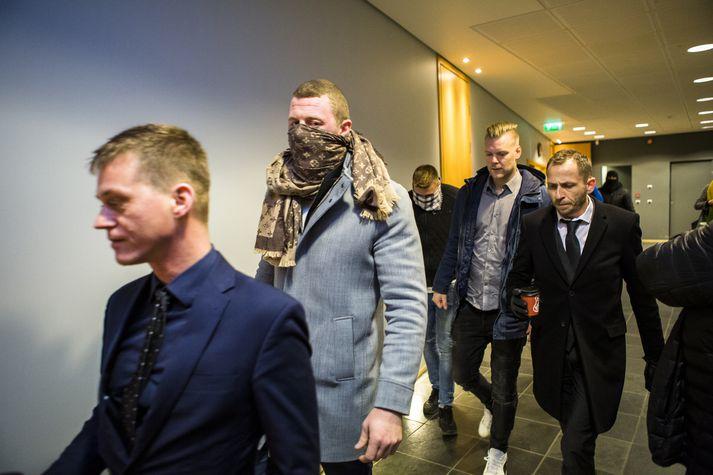 Hinir ákærðu gáfu skýrslu við aðalmeðferð málsins í Héraðsdómi Reykjaness. Fréttablaðið/ERNIR