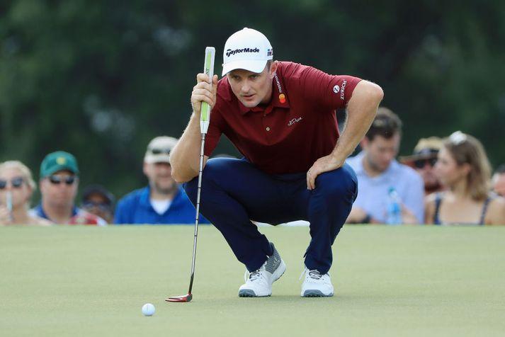 Justin Rose stóð uppi sem sigurvegari á PGA mótaröðinni
