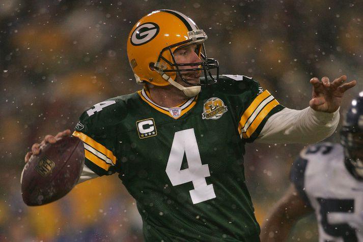 Favre í leik með Packers.
