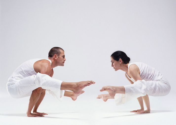 Couple practising yoga (Digital Composite)