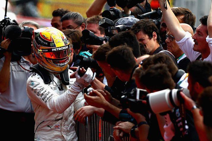 Lewis Hamilton er eflaust mjög spenntur að keppa á heimavelli í ágúst.
