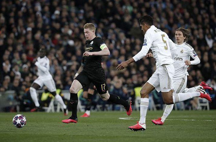 Úr fyrri leik Real Madrid og Man. City í 16-liða úrslitum Meistaradeildarinnar.