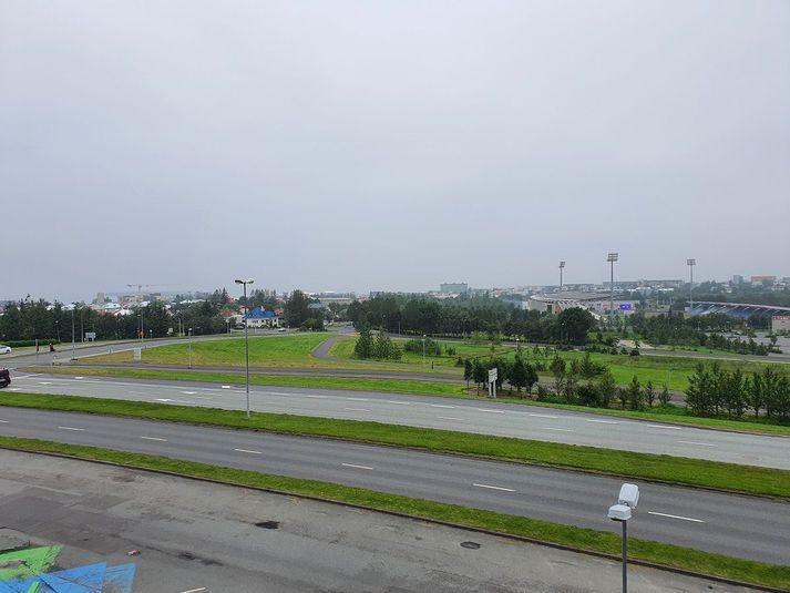Það er þokumóða yfir höfuðborgarsvæðinu.