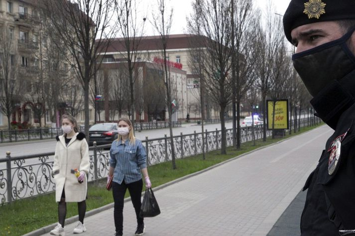 Frá borginni Grozny í Rússlandi.