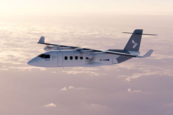 ES-19, rafmagnsflugvélin sem sænska fyrirtækið Heart Aerospace segir að verði komin í farþegaflug árið 2026.