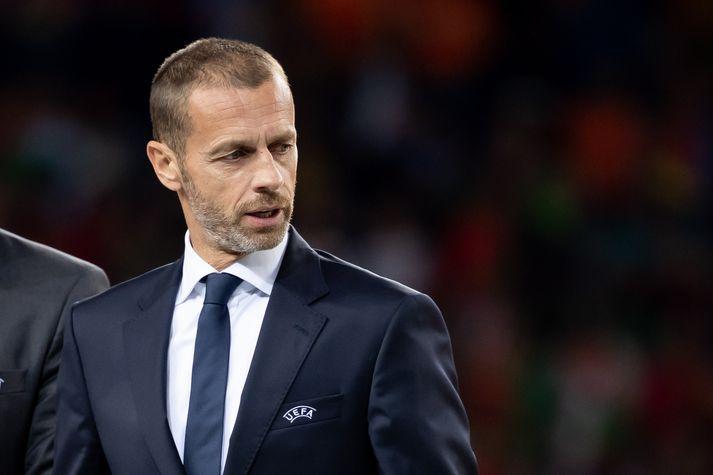 Aleksander Ceferin, forseti UEFA, hefur engan áhuga á að sjá HM haldið á tveggja ára fresti.