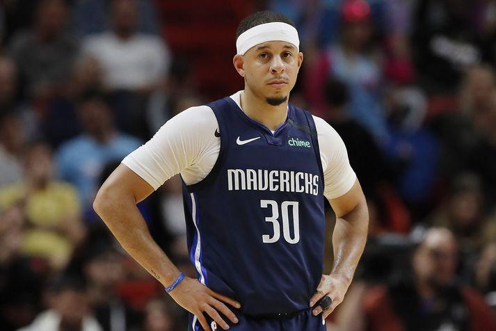 Seth Curry er svakaleg þriggja stiga skytta og hefur hitt úr meira en 44 prósent þriggja stiga skota sinn á NBA ferlinum.