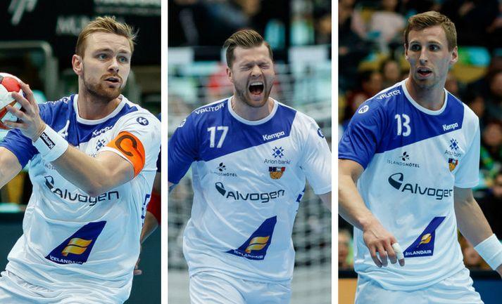 Aron Pálmarsson, Arnór Þór Gunnarsson og Ólafur Guðmundsson.