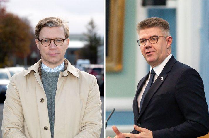 Gísli Marteinn Baldursson og Gunnar Bragi Sveinsson.