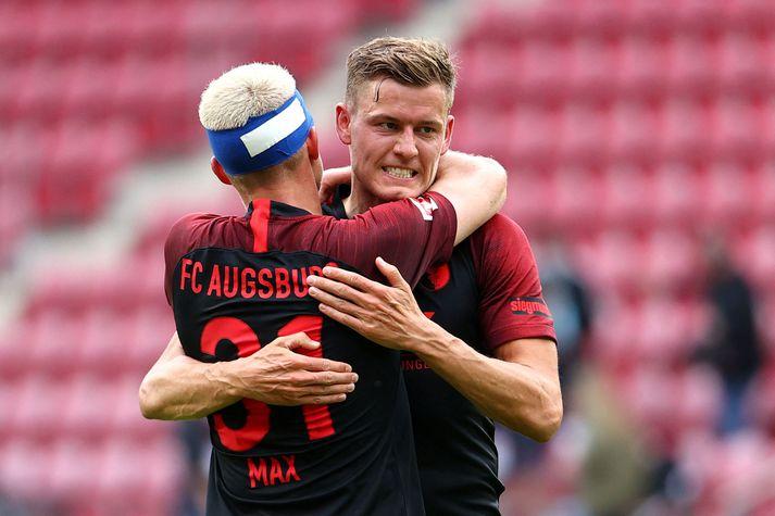 Philipp Max og Alfreð Finnbogason, leikmenn Augsburg.