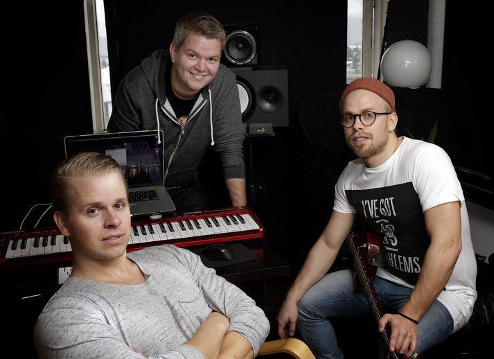 Frá vinstri til hægri: Pálmi Ragnar, Sæþór Kristjánsson og Ásgeir Orri.