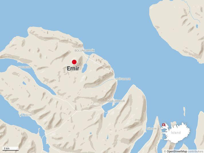 Fjallið Ernir við Bolungarvík.