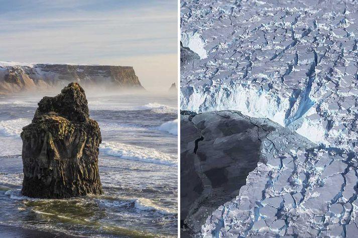Bráðnun á Suðurskautslandinu hefur meiri áhrif á sjávarstöðu við Ísland en Grænlandsjökull vegna breytinga sem verða á þyngdarsviði íshvelanna við bráðnunina.