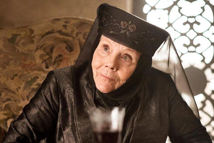 Diana Rigg í hlutverki Olenna Tyrell í Game of Thrones.