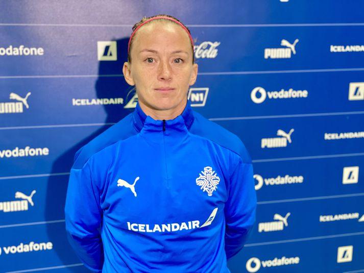 Gunnhildur Yrsa Jónsdóttir leikur væntanlega sinn 79. landsleik í dag.