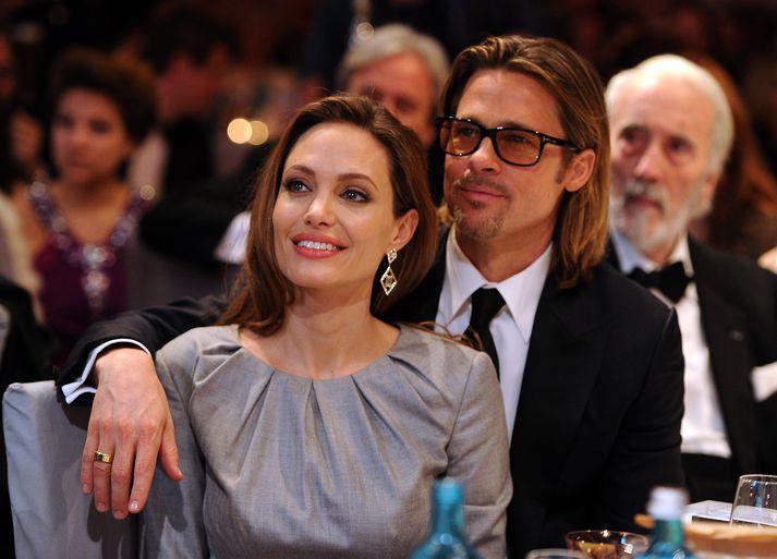 Brad Pitt og Angelina Jolie, áður þekkt sem Brangelina.