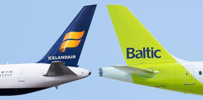 Icelandair og airBaltic eiga að hafa samið um sammerkt flug.