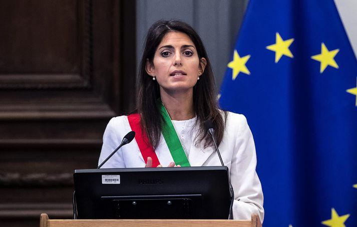 Virginia Raggi hefur verið borgarstjóri Rómar frá 2016.