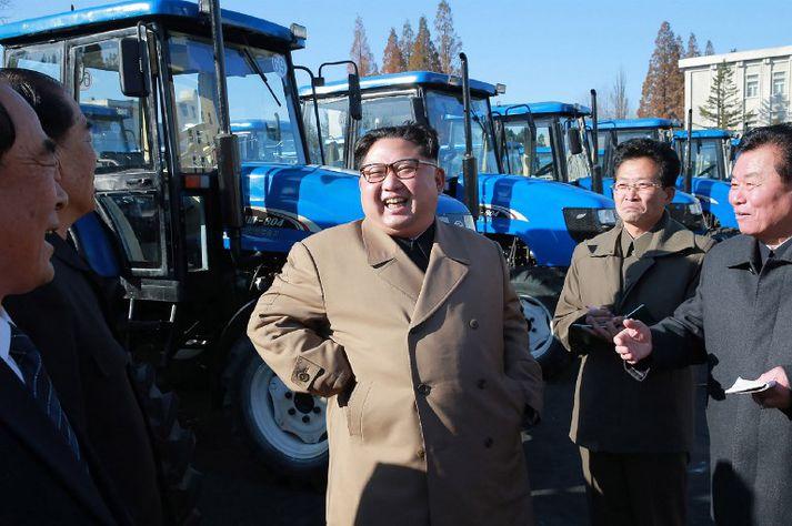 Kim Jong-un er leiðtogi Norður-Kóreumanna.