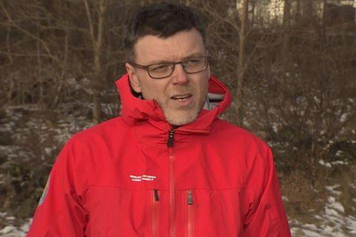 Björn Oddsson hjá almannavörnum.