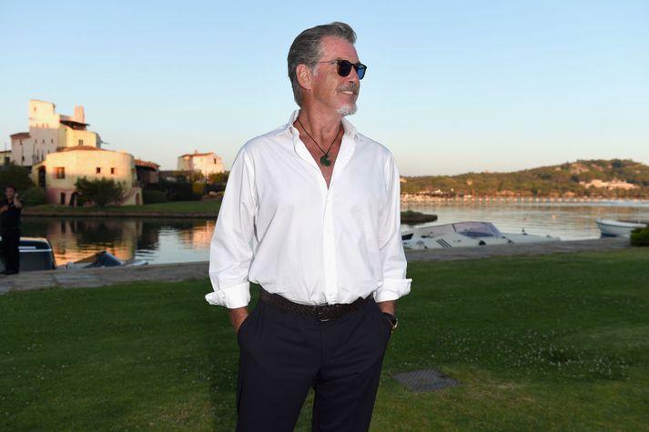 Brosnan var Bond í fjórum kvikmyndum.