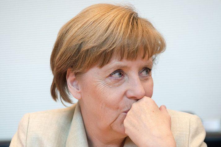 Angela Merkel Þýskalandskanslari.