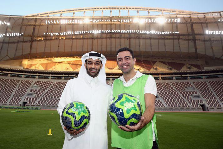 Xavi Hernandez spilar í Katar með liði Al Sadd.